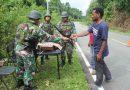 Jaga Kondusitifitas Wilayah Perbatasan, Satgas Yonif 328 Amankan Warga Pembawa Miras Ilegal