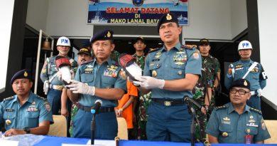 Tim F1QR Unit 1 Jatanrasla Lantamal IV Gagalkan Penyelundupan Sabu 204 kg