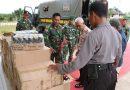 Satgas Pamtas RI Yonif MR 411/Pdw Serahkan Barbuk Ribuan Miras ke Polisi