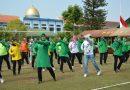 Persit Kodim Ponorogo Gelar Olahraga Bersama dengan Bhayangkari Polres Ponorogo