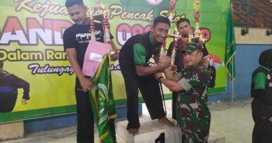 Kejurda Pencak Silat Dandim 0807 Cup Tahun 2019 Resmi Ditutup
