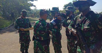 Yonif 511/DY Laksanakan Latihan Perang Hutan di Puslat Rindam V/Brawijaya Sidodadi Lawang-Malang