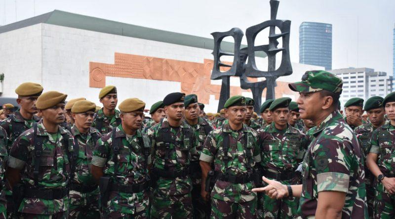 Dandim 0501/ Jakarta Pusat BS Pimpin 1000 Personel Kodam Jaya Perkuat Pam Unras KSPI