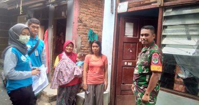 Babinsa Koramil 05/ Tanah Abang Dampingi Petugas Pusdatin Survey Data Di Wilayah Binaan