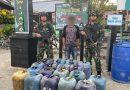 Satgas Yonif R 300 Amankan 2,3 Ton BBM Ilegal di Papua