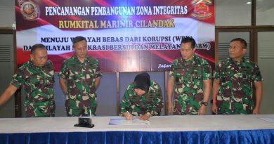 Pencanangan Pembangunan Zona Integritas Rumkital Marinir Cilandak
