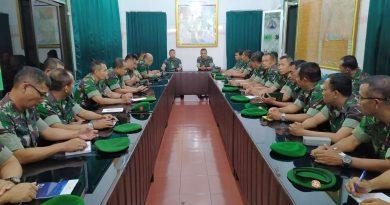 Kasdim dan Para Perwira Sambut Kunjungan Tim Wasrik di Kodim Tulungagung