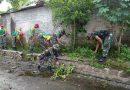 Kodim 0803/Madiun Kerahkan Personel Ikuti Kerja Bakti di Kali Maling