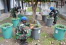 Wujudkan Ketahanan Pangan, Prajurit Yon POM 2 Mar Laksanakan Budikdamber