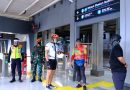 Dandim 0501/Jakarta Pusat BS Bersama Kapolres Metro Jakarta Pusat Tinjau Pos Penegakan Disiplin Sembari Gowes