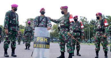 Danbrigif 2 Marinir Pimpin Gelar Kesiapan Satgas Pengamanan Covid 19