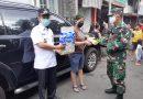 Danramil 01/Menteng Bersama Lurah Berikan Bantuan Bagi Warga Korban Kebakaran
