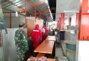 Bersama Dinas Pemadam Babinsa Koramil Tanah Abang Sterilisasi Pasar