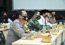 Dandim 0803 Bersama Walikota Madiun Ikuti Webinar Optimalisasi Penegakan Pendisiplinan Protokol Kesehatan