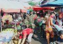 Babinsa Sawah Besar dan Pasukan BKO Tetap Awasi Penerapan Protokol Kesehatan di Hari Idul Adha