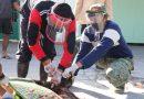 Tetap Terapkan Protokol Kesehatan, Kodim Ngawi Laksanakan Pemotongan Hewan Kurban