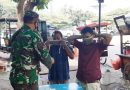 Wadanramil 08/JB Tegur Masyarakat Tanpa Masker di Area Kodim 0501