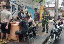 Sweeping Protokol Kesehatan di Wilayah Johar Baru Oleh Tiga Pilar