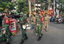 Bersama Pasukan BKO Babinsa Koramil 07/Kemayoran Marathon Patroli 3 Pasar Tradisional