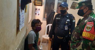Ditengah Patroli Protokol Kesehatan Babinsa Senen Bersama Security Berhasil Amankan Aksi Pencurian