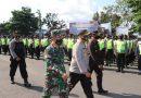 Kasdim Dampingi Kapolres Tulungagung Pimpin Apel Gelar Pasukan Pengamanan Pengesahan Warga Baru PSHT