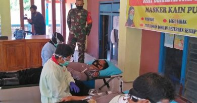 Anggota Posramil Kasreman Monitoring Bhakti Sosial Donor Darah
