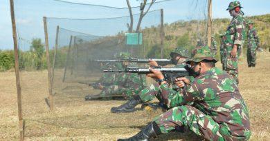 Gelar Latihan Menembak Jatri TW III 2020, Kodim 0802/Ponorogo Tetap Terapkan Disiplin Protokol Kesehatan