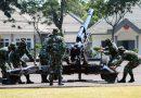 Batalyon Howitzer 2 Marinir Latih Drill Meriam 105 MM