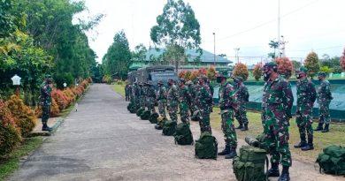 Dandim Boven Digoel Berangkatkan 59 Personel TMMD 109 Ke Wilayah Perbatasan RI-PNG