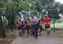 Tingkatkan Daya Tahan Tubuh Ditengah Pandemi, Dankormar Lakukan Olahraga