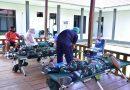 Semarak HUT TNI ke 75 Prajurit Pasmar 3 Sumbang Darah