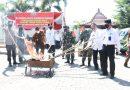 Dandim 0803 Hadiri Pemusnahan Barang Bukti Narkoba Kejari Kabupaten Madiun