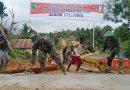 Luar Biasa, Warga Kampung Kakuna Bantu Pengecoran Jalan TMMD