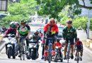 Pantau Kondusifitas Wilayah Jajarannya, Danrem 081/DSJ Gowes ke Magetan
