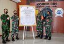 Komitmen Danrem 081/DSJ Wujudkan Satuan Bebas Korupsi