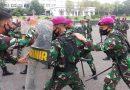 Antisipasi Kerusuhan Masa Prajurit Yonzeni 2 Mar Latihkan Dalhura