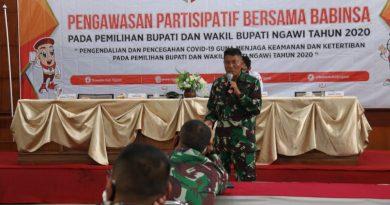 Kasdim Ngawi Ingatkan Kepada Seluruh Babinsa Agar Tetap Netral Dalam Pilkada Serentak Tahun 2020