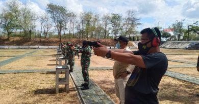 Pertajam Skil, Danmenbanpur 2 Beserta Jajaran Dan Atlet Gelar Latihan Menembak