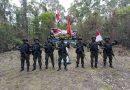 Pastikan Batas Negara Aman, Prajurit Satgas Pamtas Yonif 125/Simbisa Laksanakan Patroli Patok