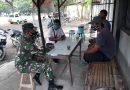 Komsos Dengan Warga Binaan, Babinsa Koramil 0802/01 Kota Ponorogo Ajak Warga Untuk Terus Terapkan Disiplin Protokol Kesehatan
