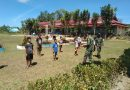 Peringati Hari Sumpah Pemuda Ke-92, Satgas Yonif 642 Ajarkan PBB Kepada Anak-Anak Perbatasan
