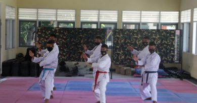 Jelang Turnamen Karate Danmenkav 2 Mar CUP, Atlet Ksatria Perkasa Giat Berletih