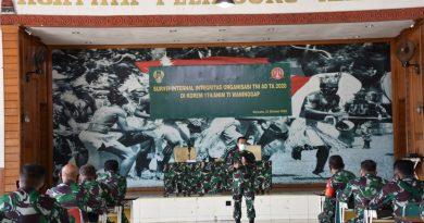 Srenaad Gelar Survei Internal Integritas Organisasi TNI AD di Korem 174 Merauke