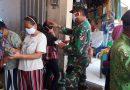 Bersama Lawan Covid-19, Koramil 0802/10 Slahung Laksanakan Ops Disiplin Protokol Kesehatan di Pasar