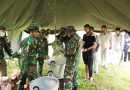 Hadapi Situasi Perang, Satgasrat Brigif R-9 Libatkan Masyarakat Latihan Pengungsian