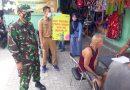 Operasi Yustisi Tertib Masker di Pasar Logbin Oleh Tiga Pilar