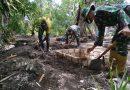 Satgas Pamtas Yonif 125/Simbisa Bantu Pembangunan WC di Rumah-Rumah Warga Kampung Kondo