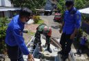 Babinsa Koramil 0806/01 Bersama Damkar Lakukan Sterilisasi Wilayah Binaan