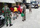 Babinsa Kelurahan Mangga Dua Selatan dan Tiga Pilar Gelar Operasi Yustisi Tertib Masker