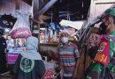 Penegakan Protokol Kesehatan di Pasar Kwitang Oleh Babinsa dan Security